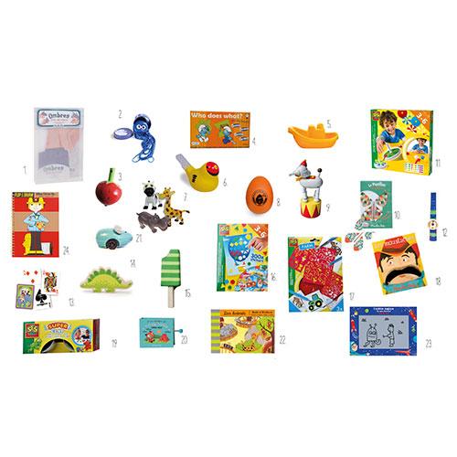 Pakkekalender til børn - 24 gaver