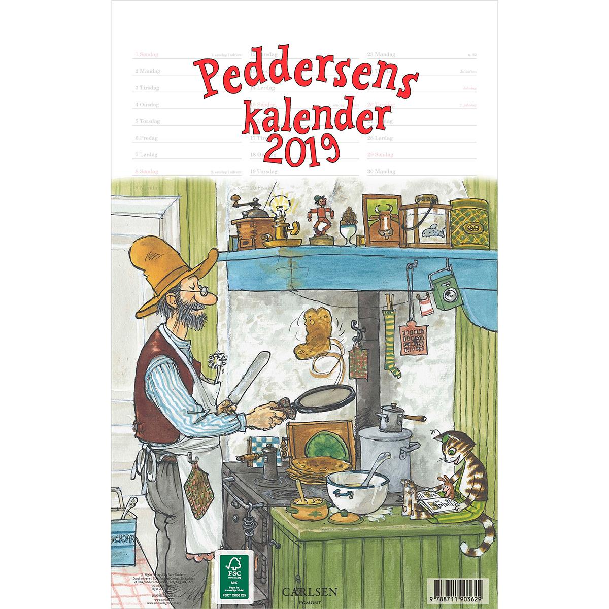 Image of   Peddersens kalender 2019 - Spiralryg