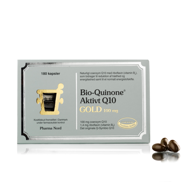 Billede af Pharma Nord Bio-Quinone Aktivt Q10 Gold - 100 mg - 180 stk.