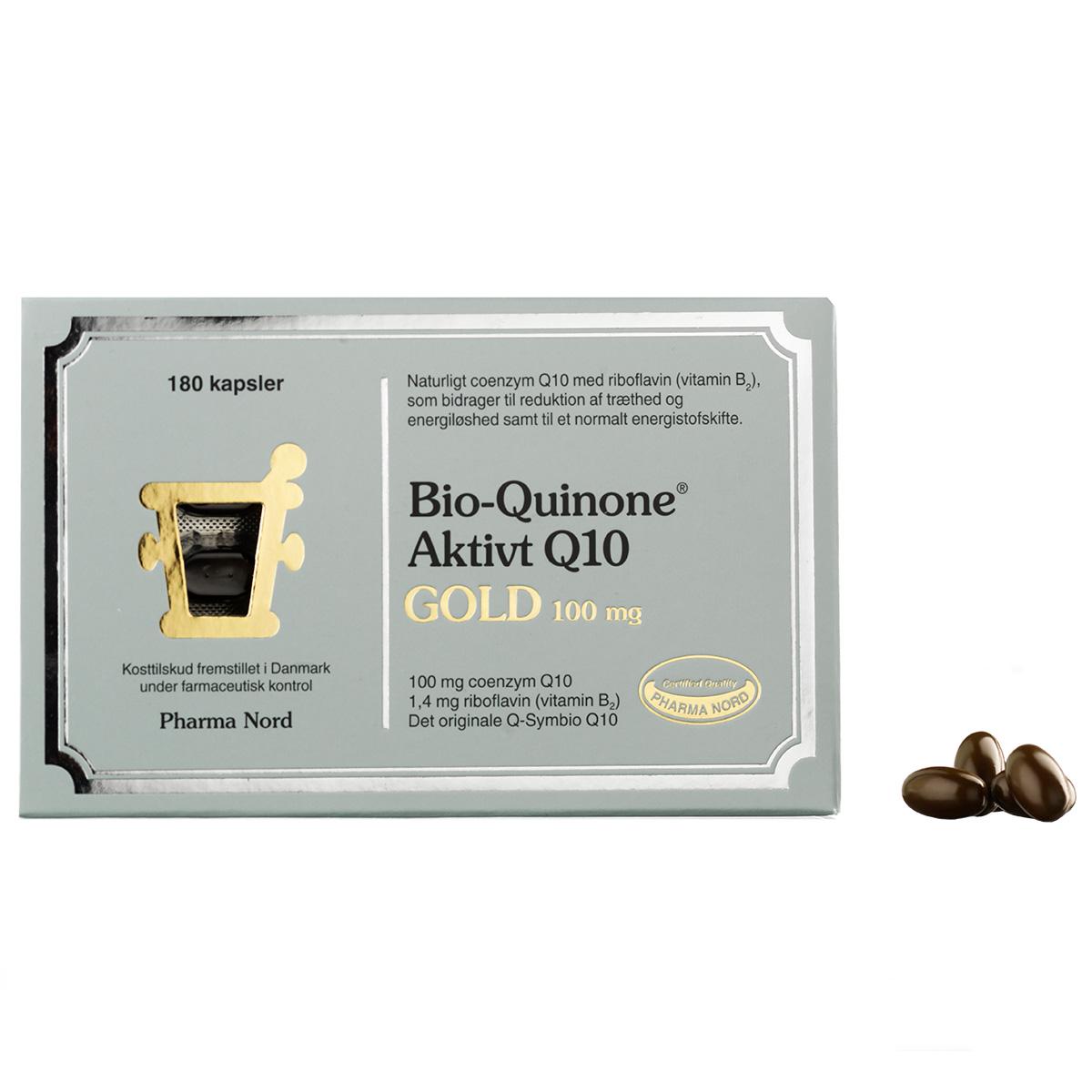Image of   Pharma Nord Bio-Quinone Aktivt Q10 Gold - 100 mg - 180 stk.