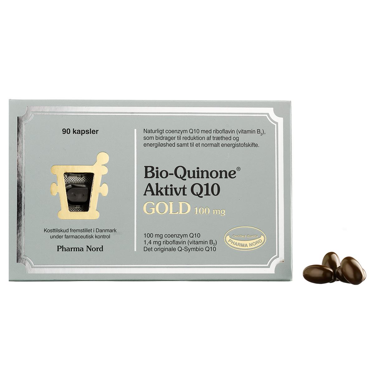 Image of   Pharma Nord Bio-Quinone Aktivt Q10 Gold - 100 mg - 90 stk.