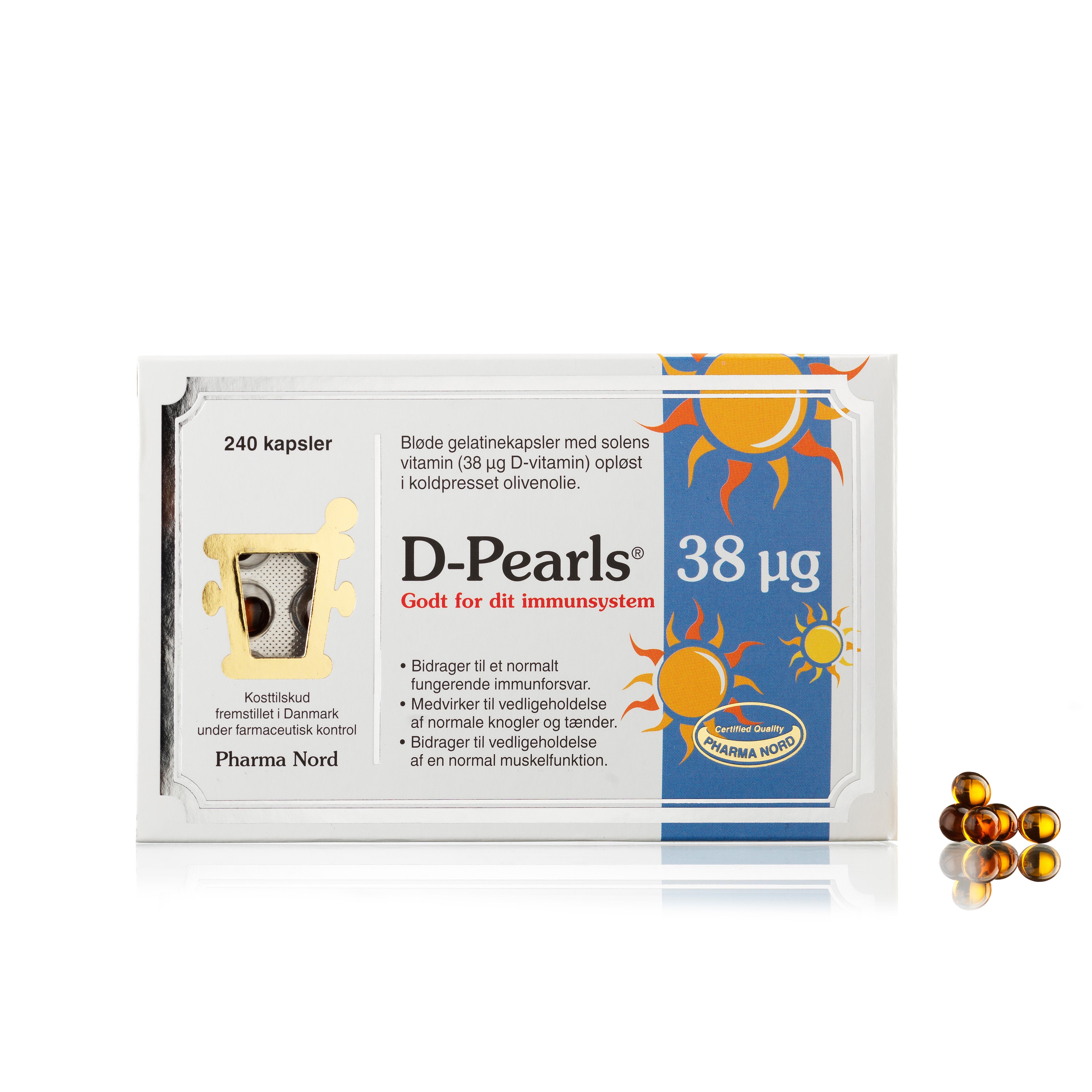 Billede af Pharma Nord D-Pearls - 38 µg - 240 stk.