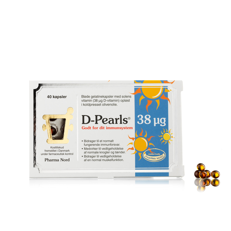 Billede af Pharma Nord D-Pearls - 38 µg - 40 stk.