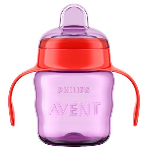 Billede af Philips Avent drikkekop med hanke - 200 ml - Pink/rød