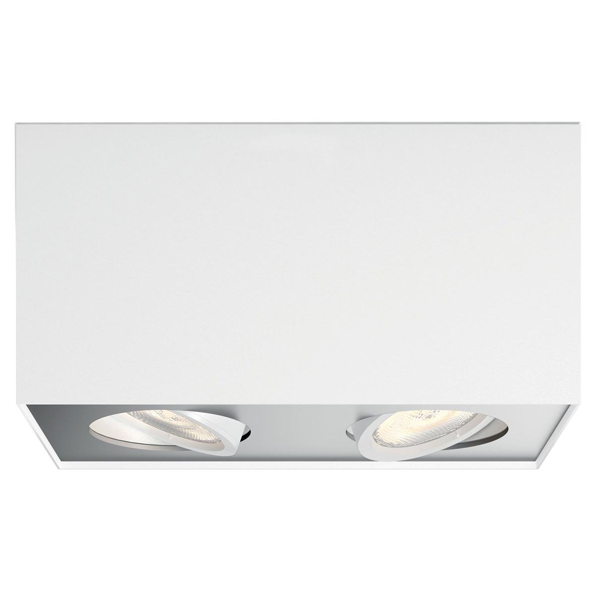 Billede af Philips myLiving loftlampe med spot - Box - Hvid