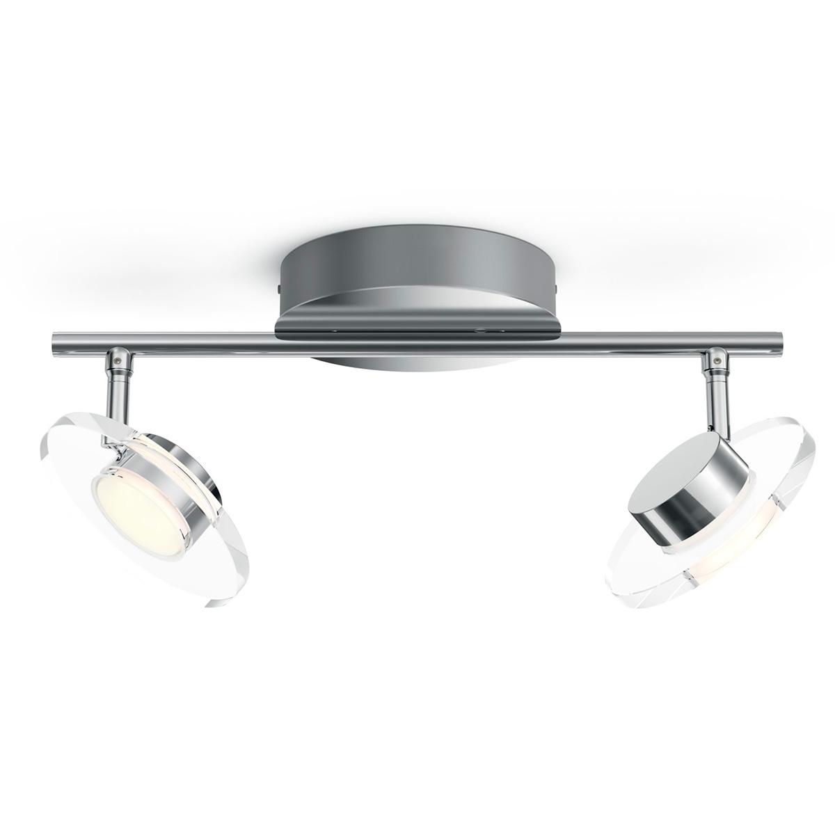 Billede af Philips myLiving loftlampe med spot - Glissette - Krom