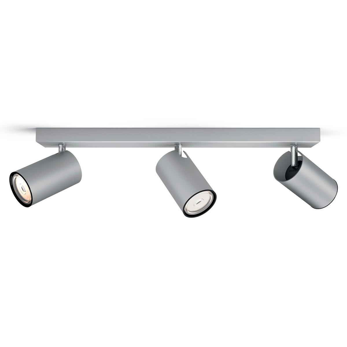 Billede af Philips myLiving loftlampe med spot - Kosipo - Aluminium