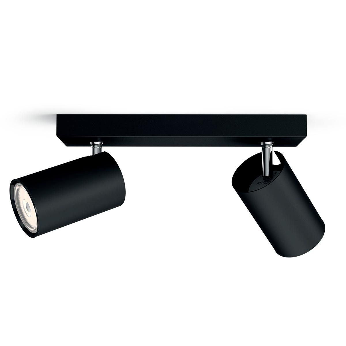 Billede af Philips myLiving loftlampe med spot - Kosipo - Sort