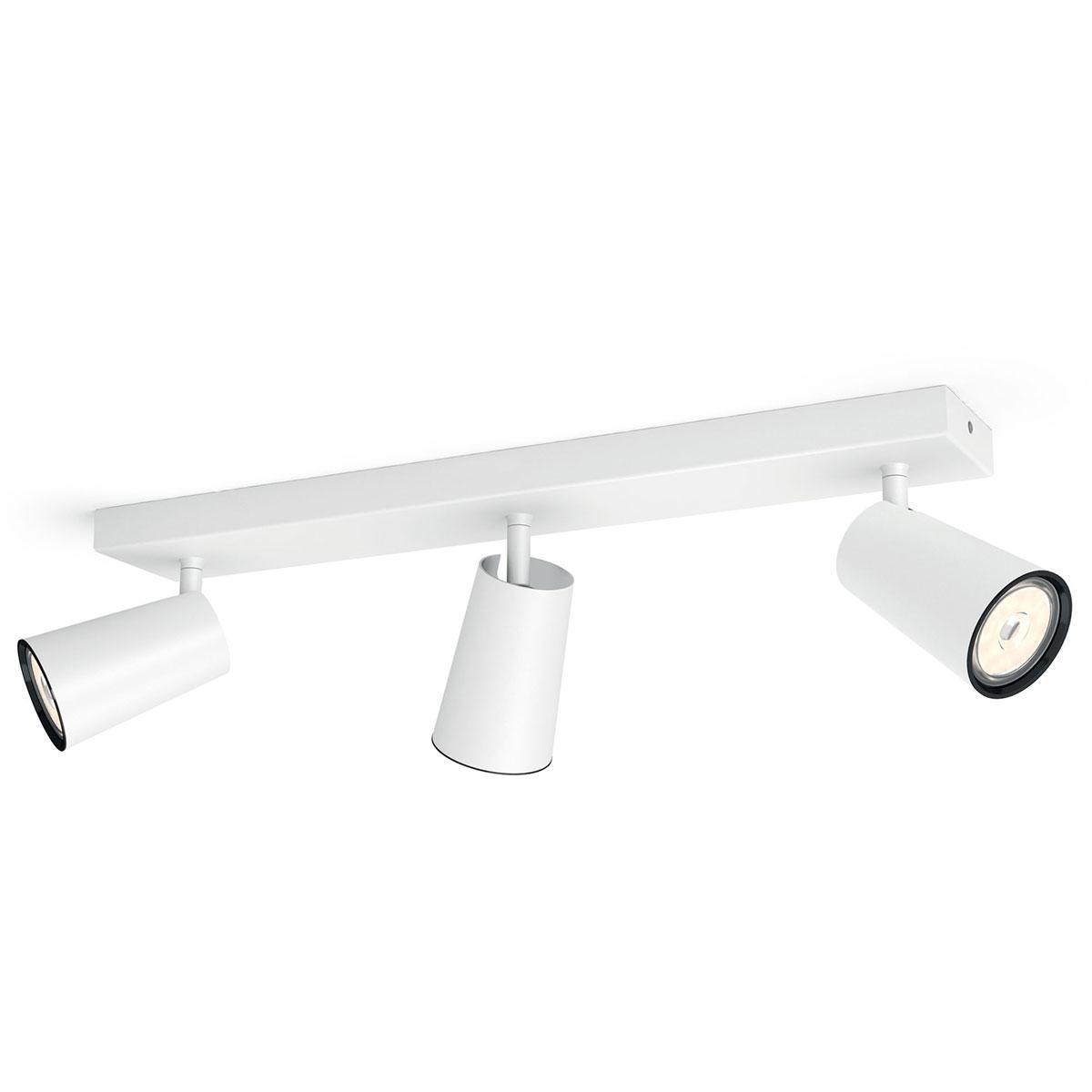 Image of   Philips myLiving loftlampe med spot - Paisley - Hvid