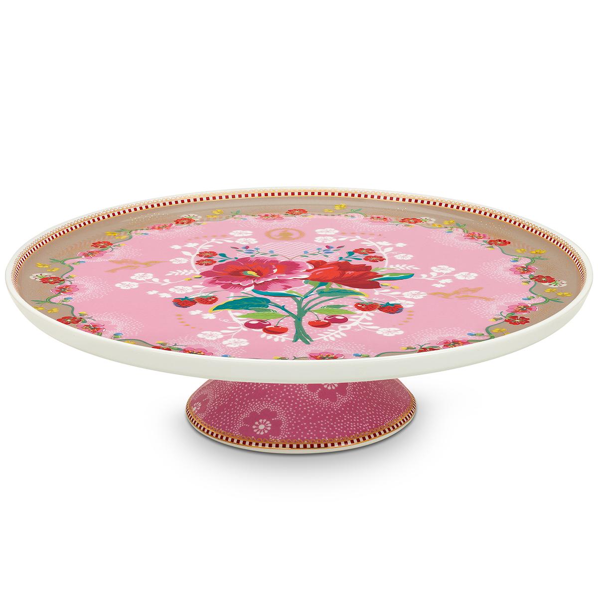 Billede af Pip Studio kagefad - Floral - Ø 30,5 cm - Pink