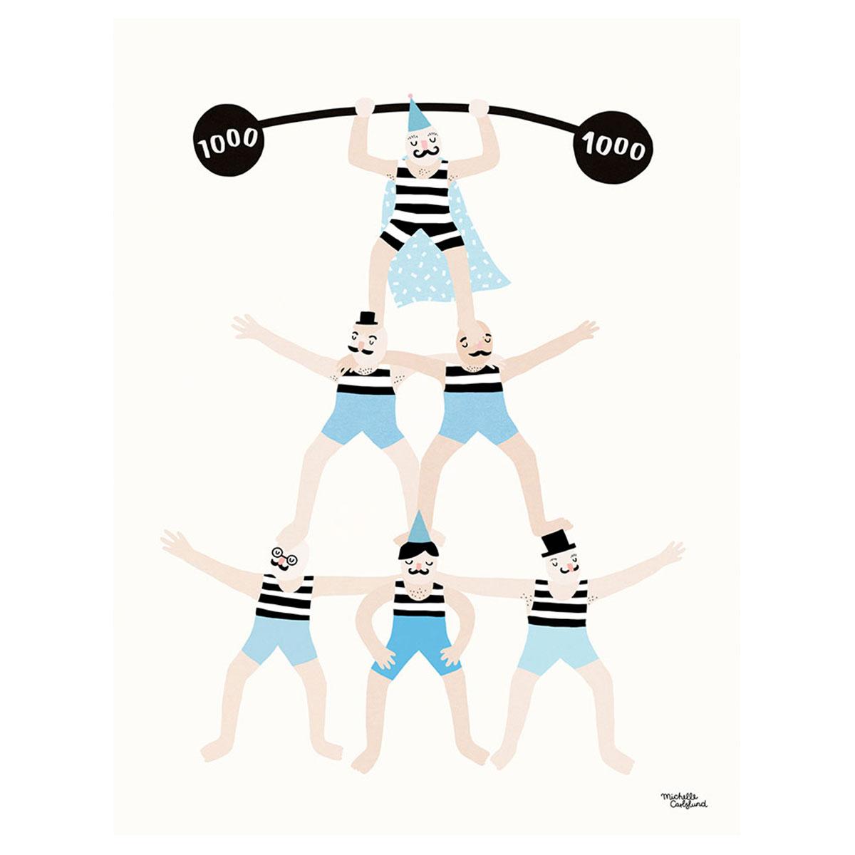 Image of   Plakat - Acrobats af Michelle Carlslund
