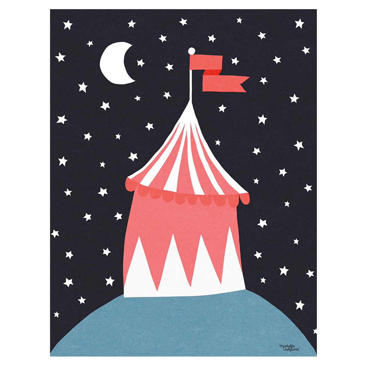 Image of   Plakat - Circus Tent af Michelle Carlslund