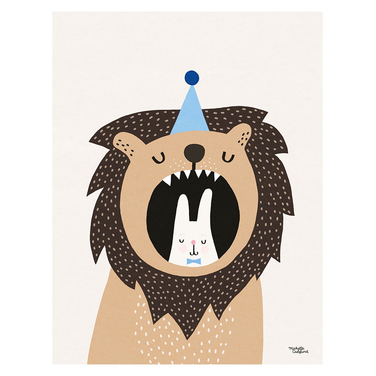 Image of   Plakat - Lion & Bunny af Michelle Carlslund