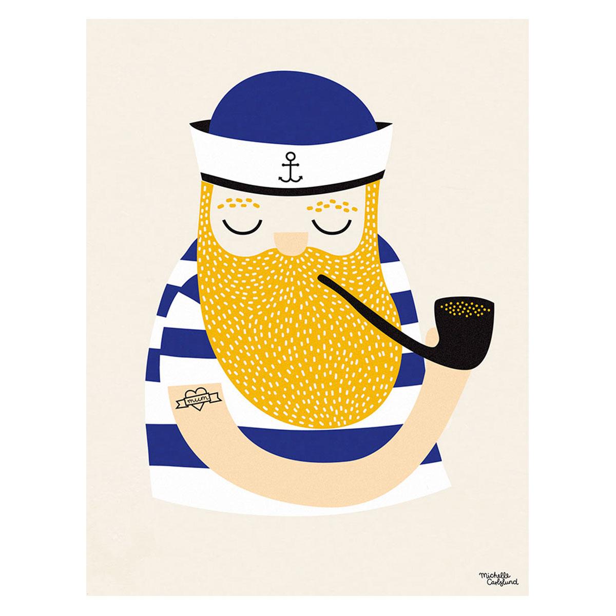 Image of   Plakat - Little Sailor af Michelle Carlslund