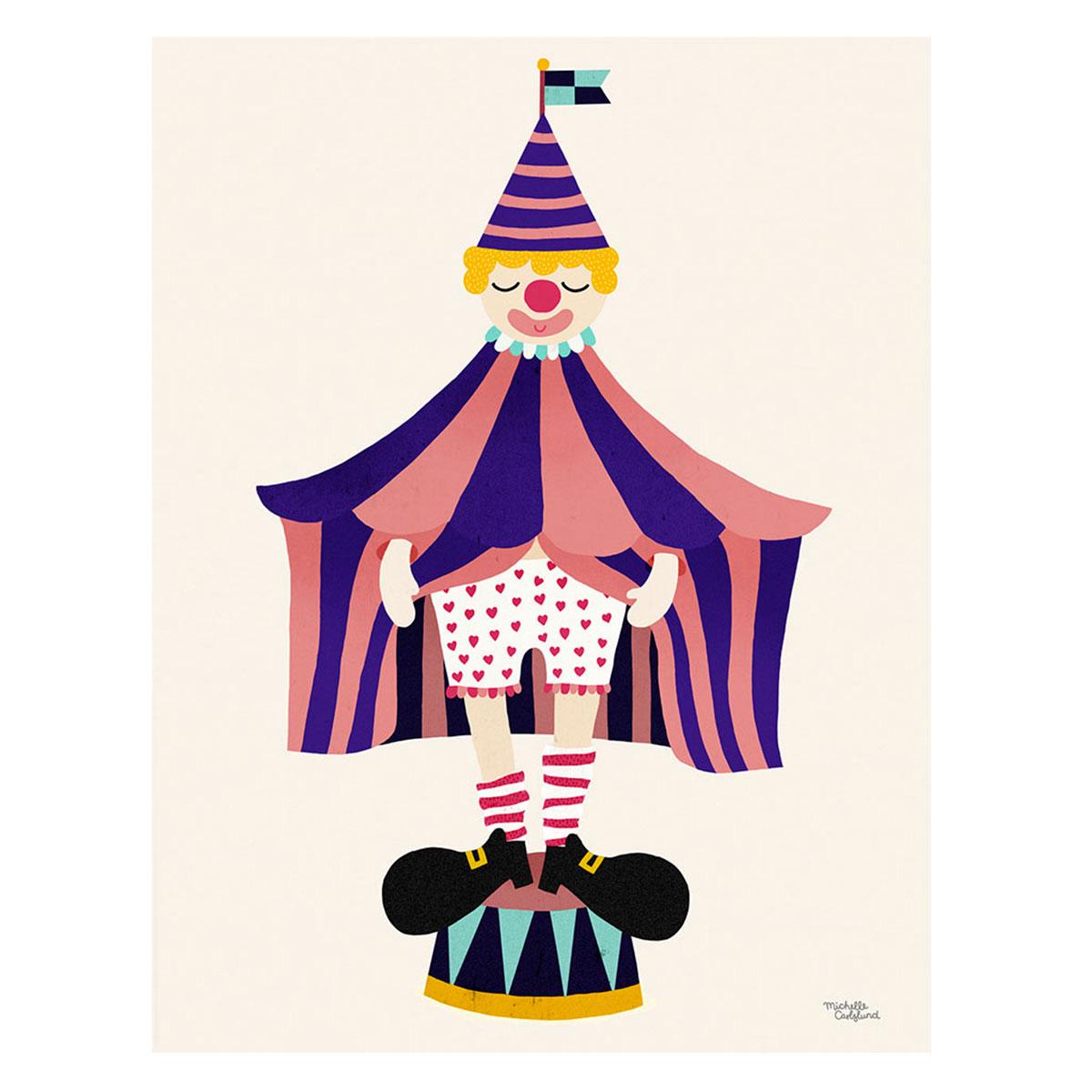 Image of   Plakat - The Clown af Michelle Carlslund