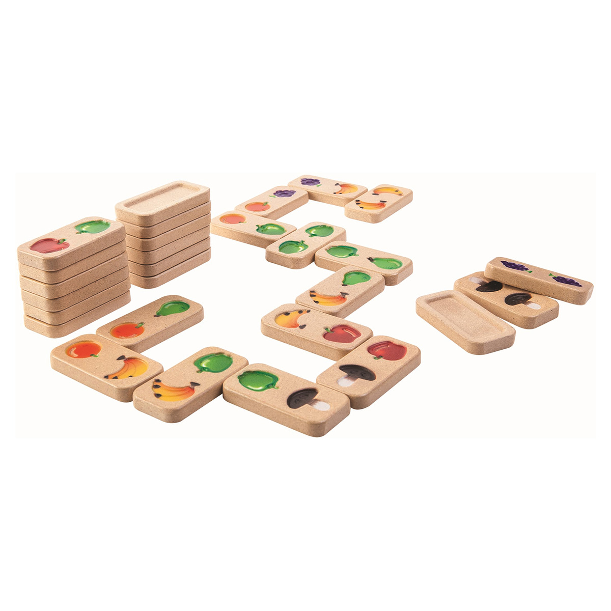 Image of   Plantoys domino - Frugt