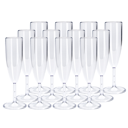 Image of   Plast1 champagneglas - 12 stk.