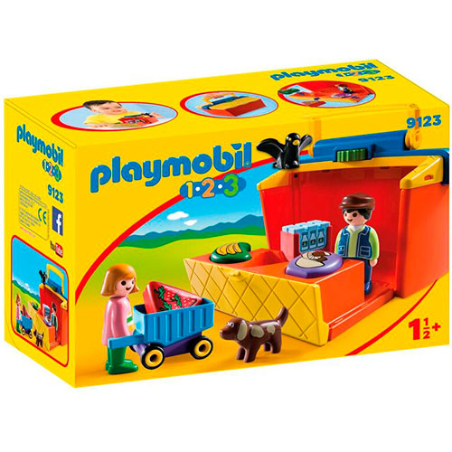 Image of   Playmobil 1.2.3 markedsbod til at tage med