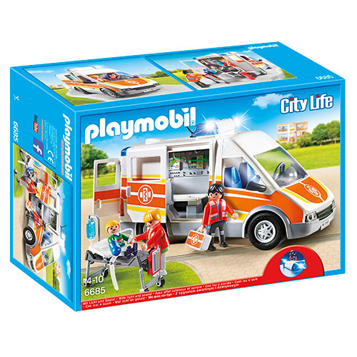 Image of   Playmobil ambulance med lys og lyd
