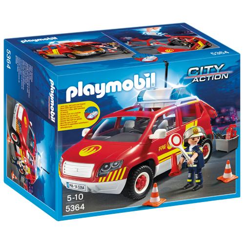 Billede af Playmobil brandchefens bil med lys og lyd