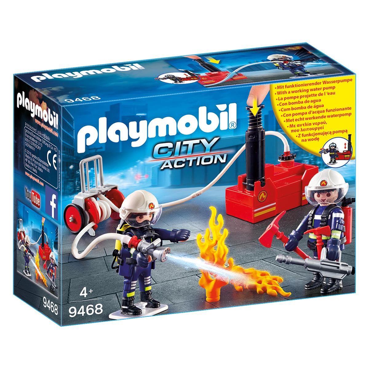 Billede af Playmobil Brandmænd med vandpumpe