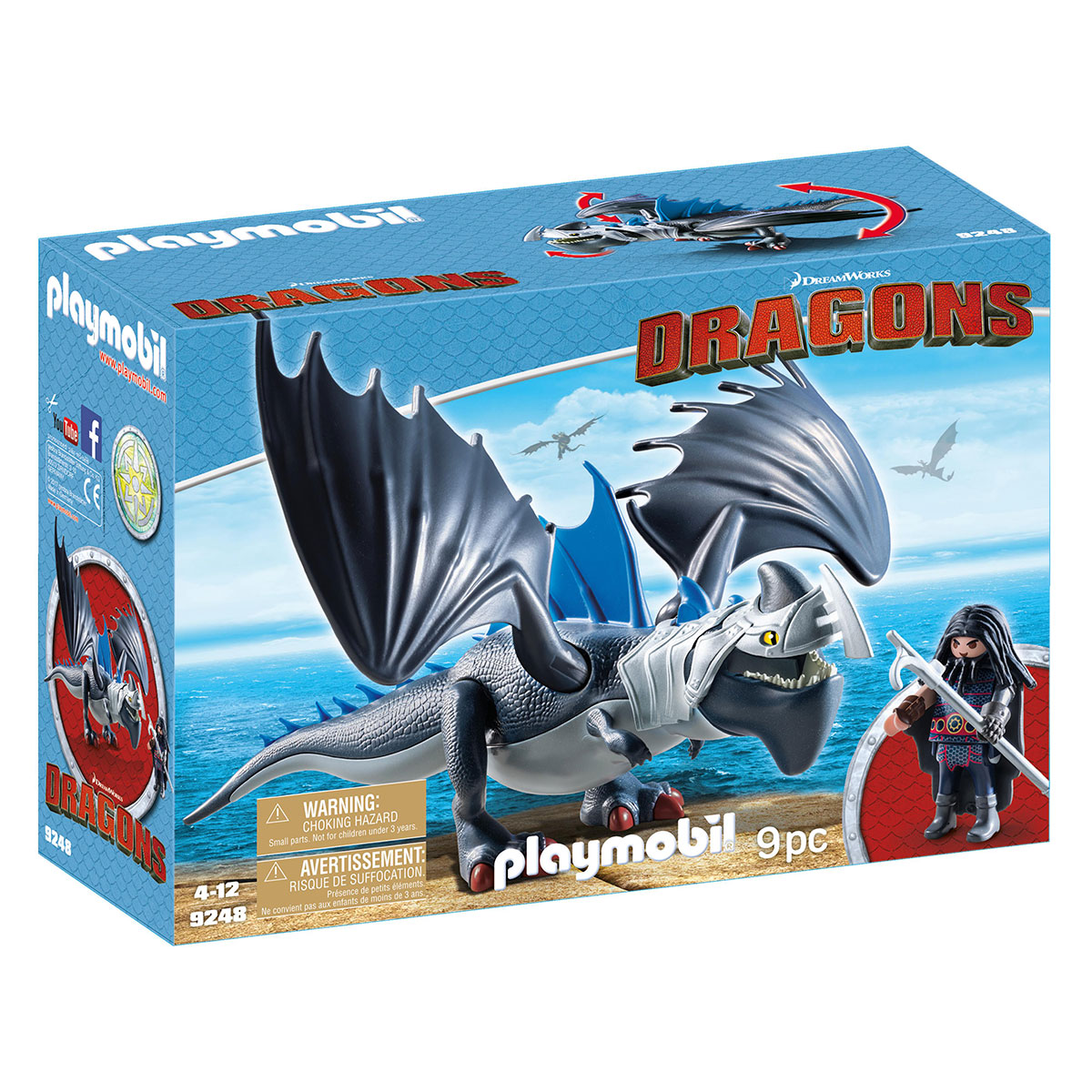 Image of   Playmobil Dragon med panserdrage