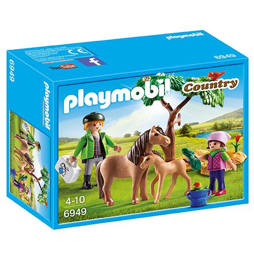 Image of   Playmobil dyrlæge med pony og føl