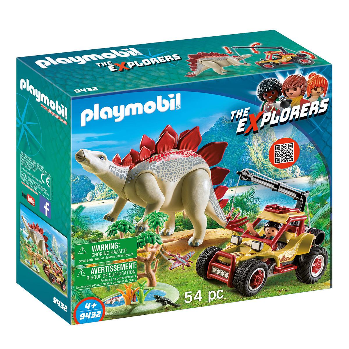Billede af Playmobil Forskermobil med stegosaurus