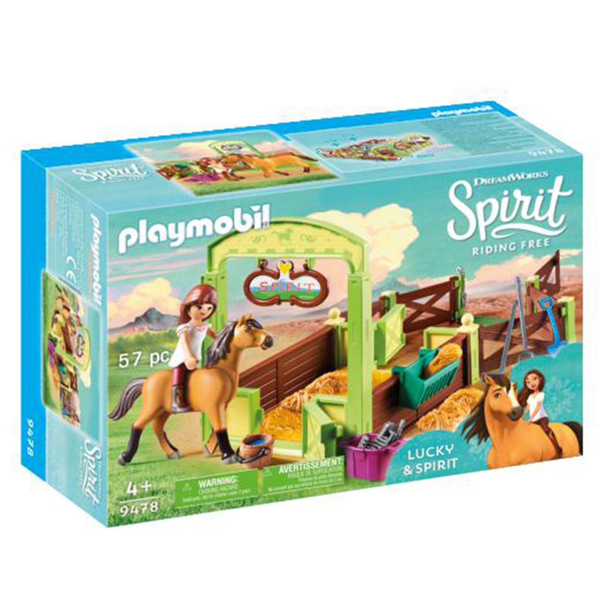 Image of   Playmobil Hesteboks Lucky & Spirit