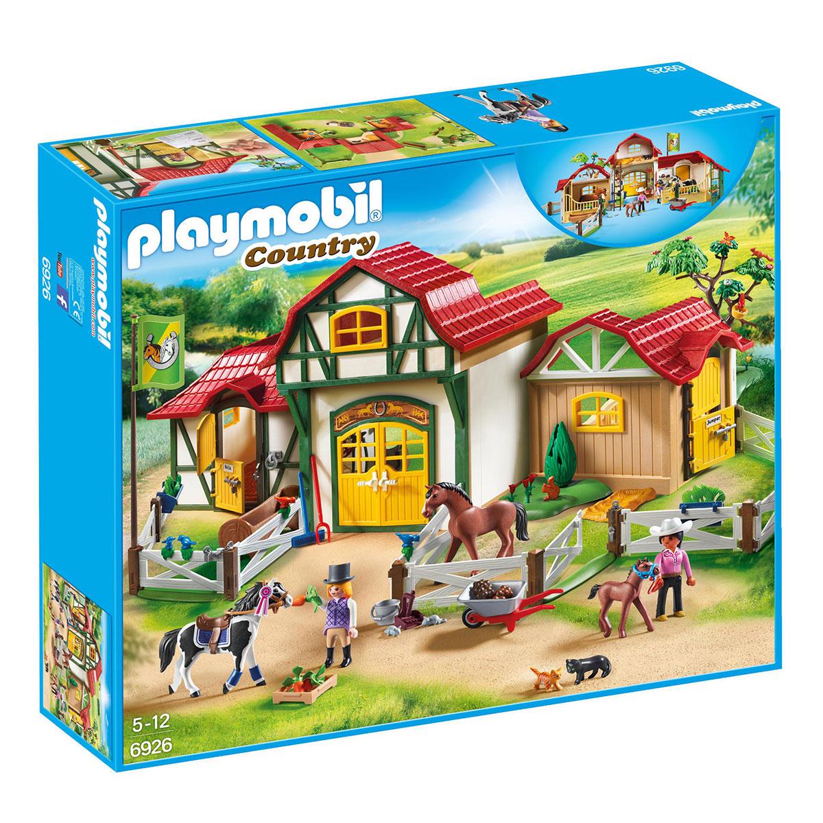 Billede af Playmobil hestestald med tilbehør