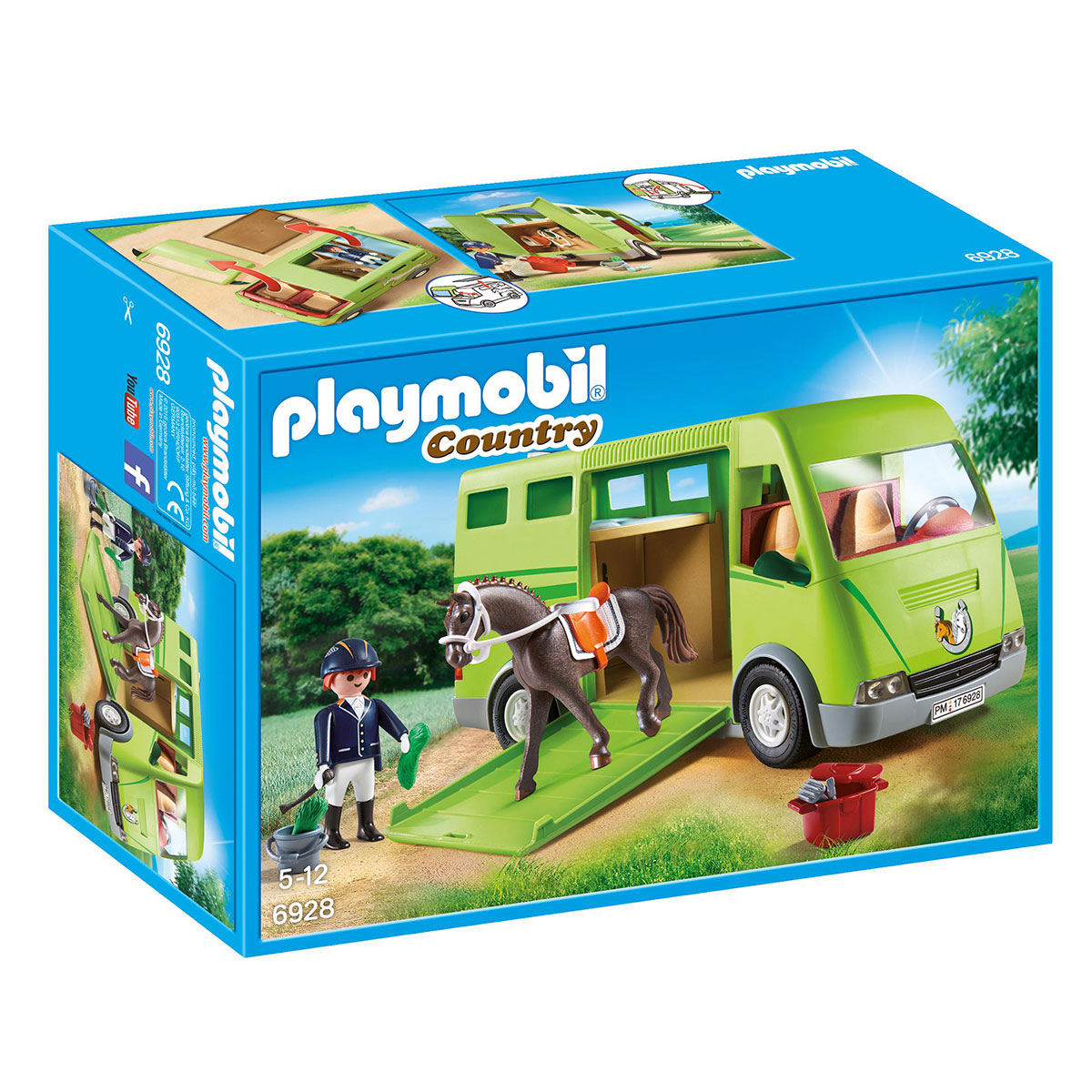 Image of   Playmobil hestetransporter