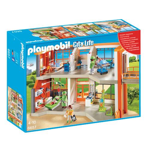 Billede af Playmobil hospital med udstyr