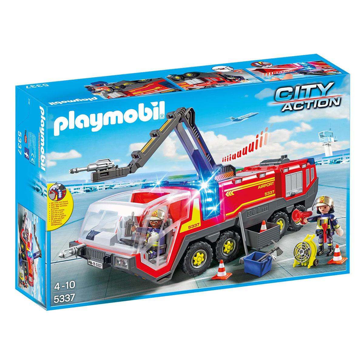 Image of   Playmobil lufthavnsbrandbil med lys og lyd