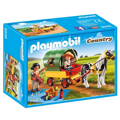 Billede af Playmobil picnic med ponyvogn