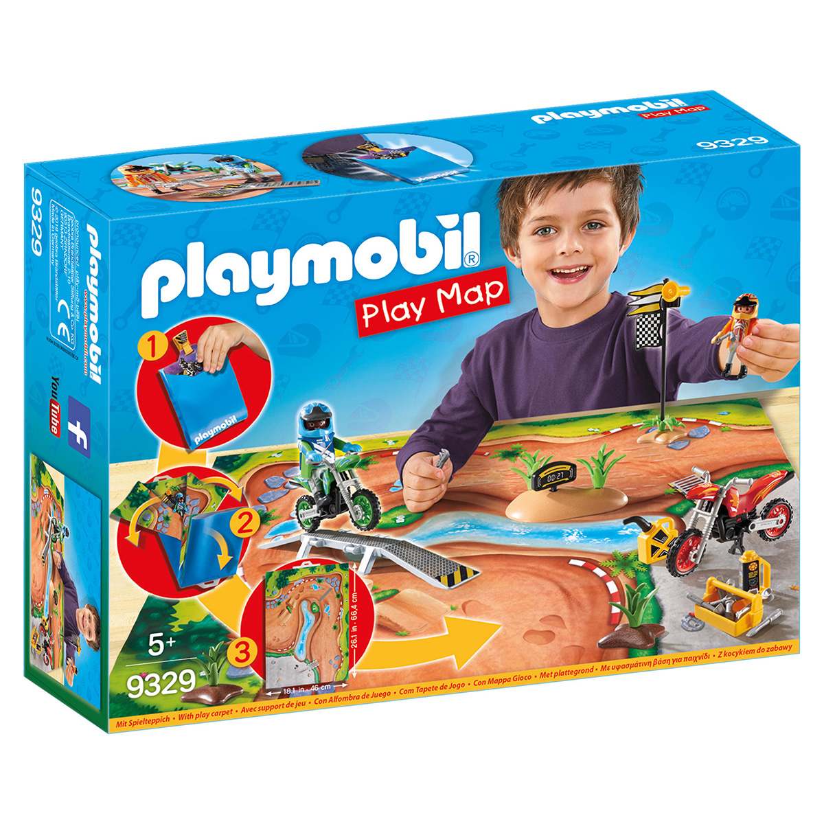 Image of   Playmobil Play Map motorcross