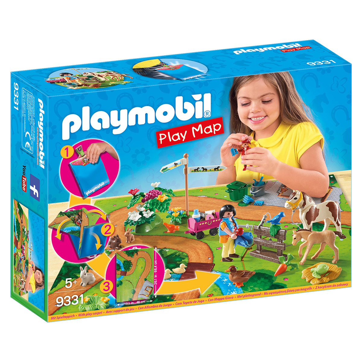 Image of   Playmobil Play Map ponyudflugt