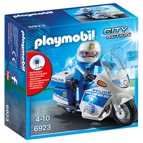 Image of   Playmobil politimotorcykel med LED-lys
