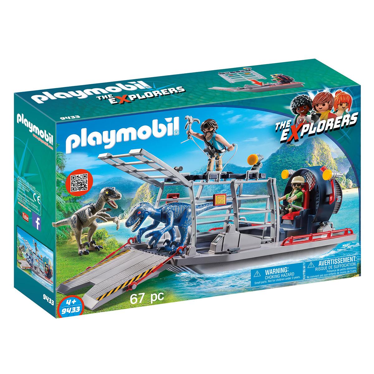 Billede af Playmobil Propelbåd med dinobur