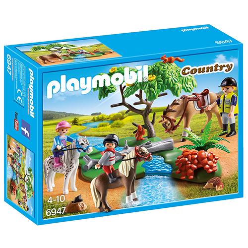 Image of   Playmobil rideundervisning på pony