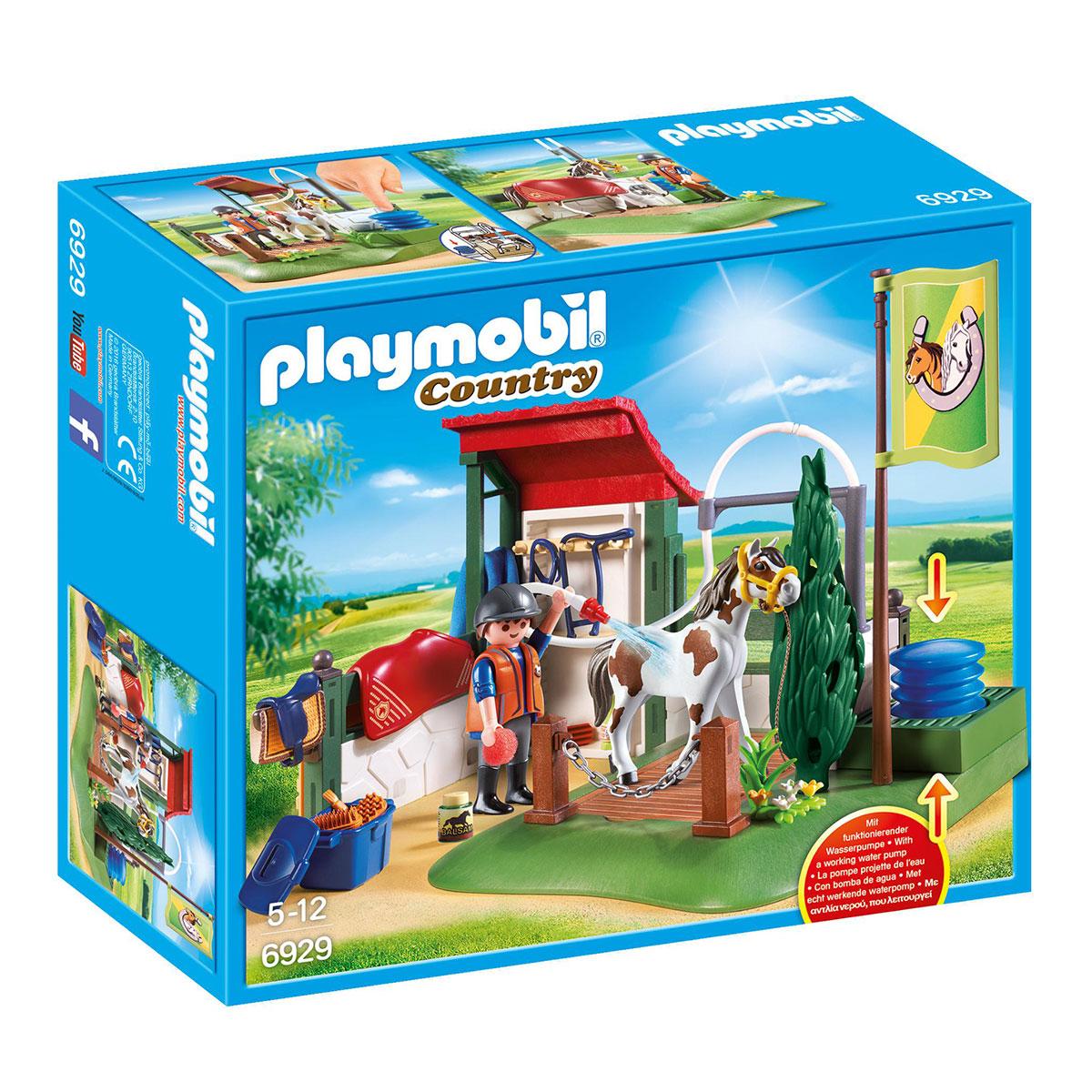 Image of   Playmobil vaskeplads til heste