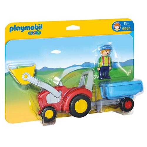 Image of   Plymobil landmand med traktor