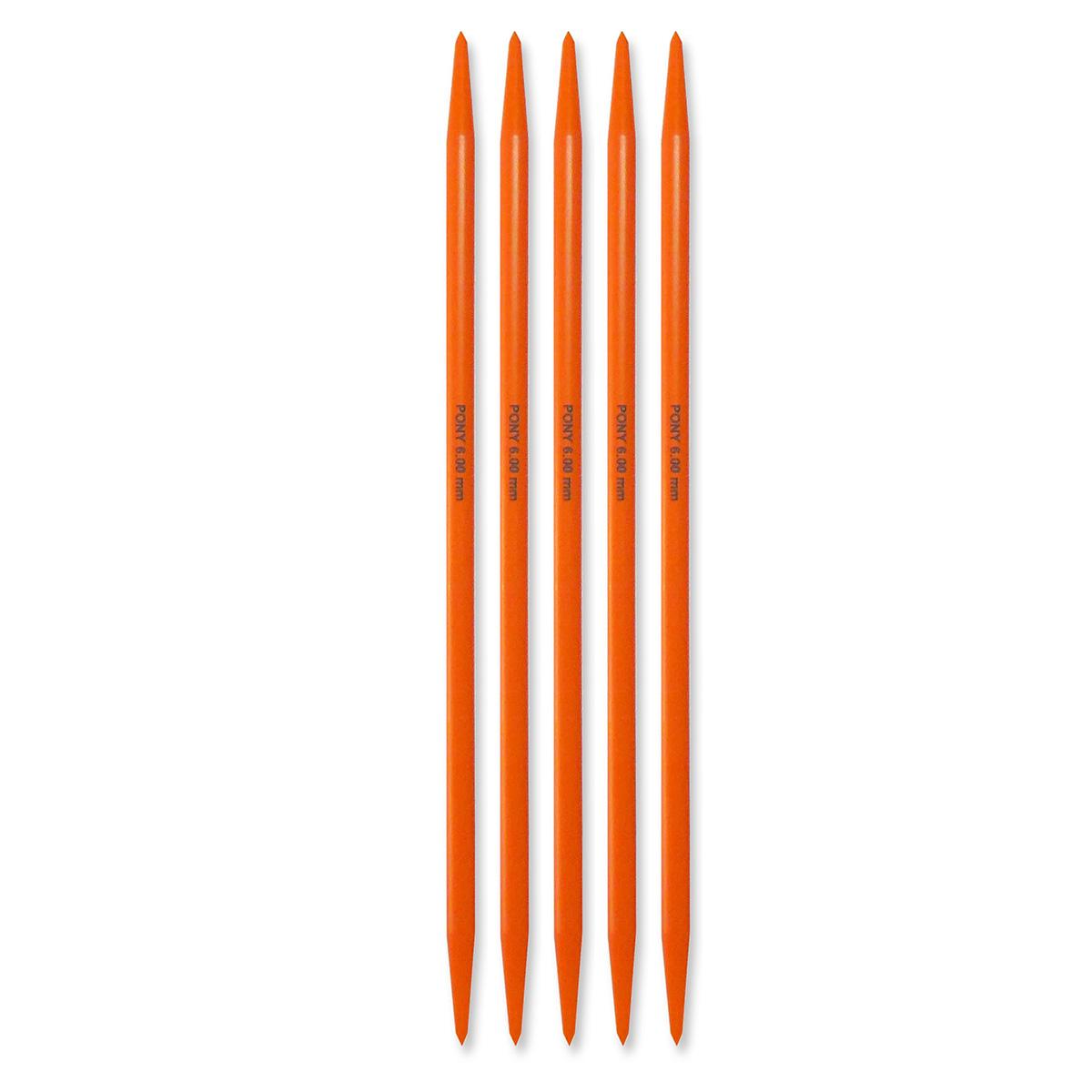 Billede af Pony strømpepinde - Nr. 6 - Orange