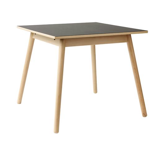 Billede af Poul M. Volther 4 pers. spisebord - C35A - Bøg/sort linoleum