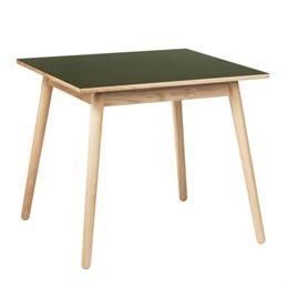Poul M. Volther 4 pers. spisebord - C35A - Eg/oliven linoleum