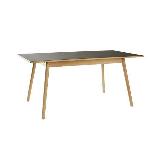 Billede af Poul M. Volther 6 pers. spisebord - C35B - Bøg/sort linoleum