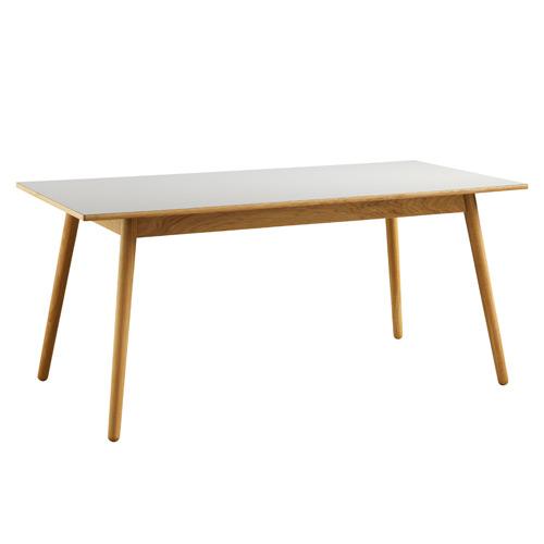 Billede af Poul M. Volther 6 pers. spisebord - C35B - Eg/grå linoleum