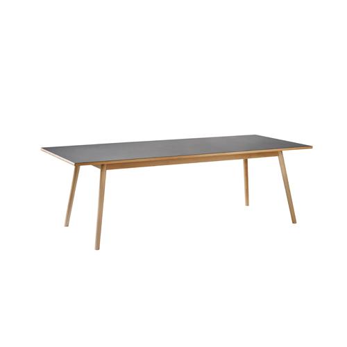 Billede af Poul M. Volther 8 pers. spisebord - C35C - Bøg/sort linoleum