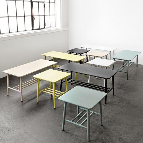 Poul m. volther d20 rektangel   hvidlakeret birk sofabord   enkelt ...