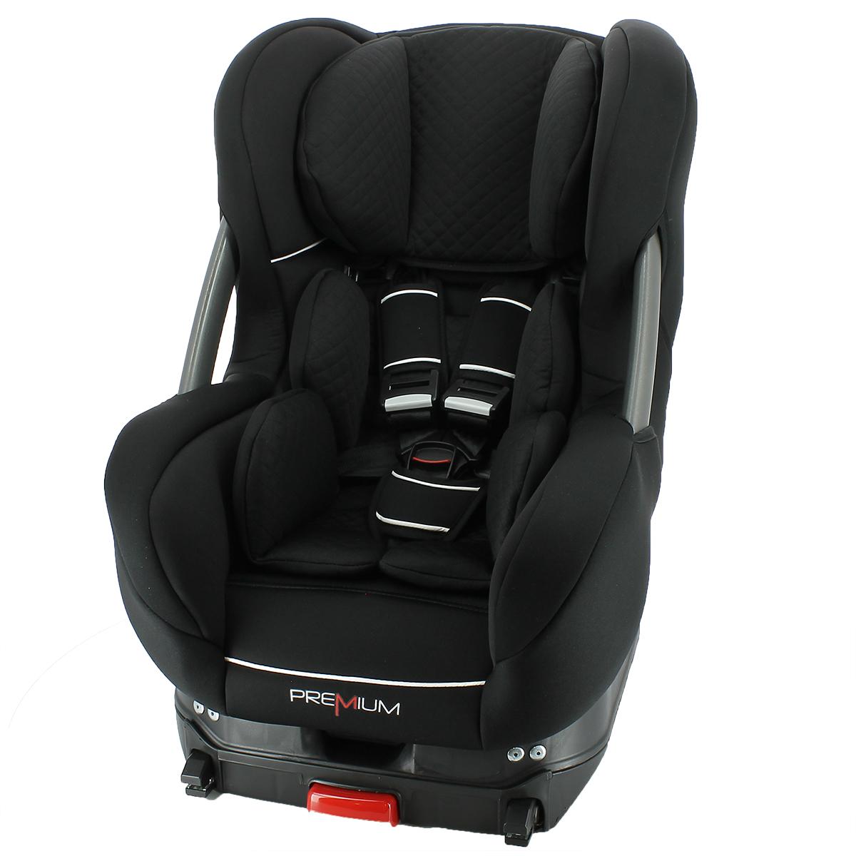 Premium autostol - Eris - i-Size - Sort - 61-105 cm