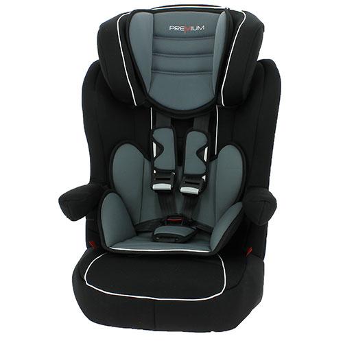 Billede af Premium autostol - I-MAX - Sort/grå - 9-36 kg